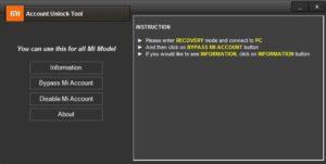 Mi User Lock & Account Remover Tool