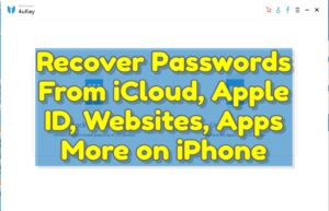 Recover Passwords From iCloud Apple ID Websites Apps & More on iPhone