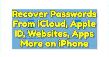 Recover Passwords From iCloud, Apple ID, Websites, Apps & More on iPhoneRecover Passwords From iCloud, Apple ID, Websites, Apps & More on iPhone