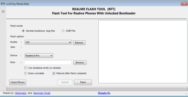 Realme Flash Tool ( RFT) V Update Version Free Tool