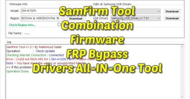 SamFirm Tool Combination Firmware FRP Bypass Drivers All-IN-One Tool 1