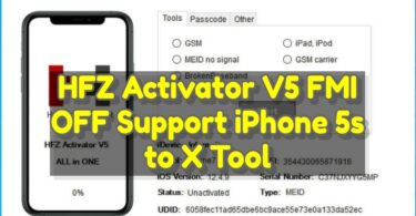 HFZ Activator V5 FMI OFF Support iPhone 5s to X Tool