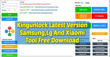 Kingunlock Latest Version Samsung.Lg And Xiaomi Tool Free Download