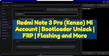 Redmi Note 3 Pro (Kenzo) Mi Account Bootloader Unlock FRP Flashing and More