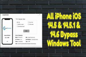 All iPhone iOS 14.5 & 14.5.1 & 14.6 Bypass Windows Tool