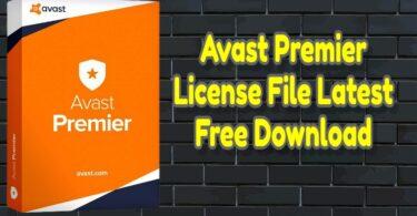 Avast Premier License File Latest Free Download