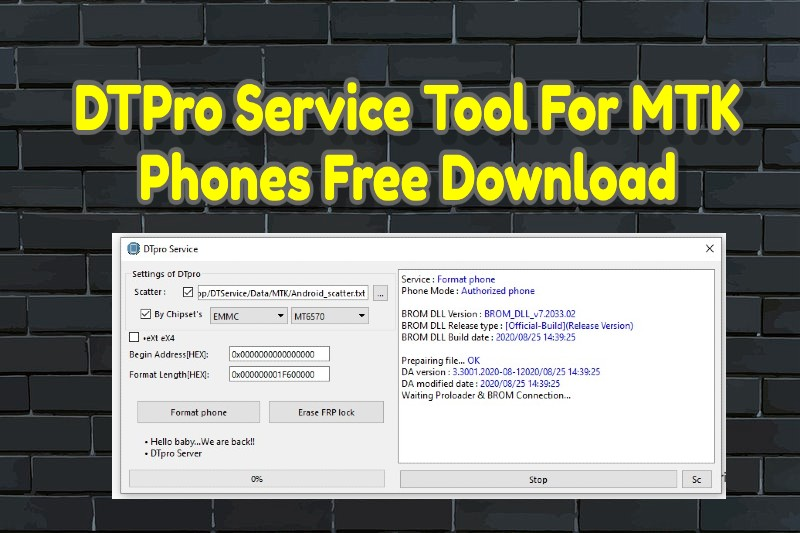 DTPro Service Tool For MTK Phones Free Download