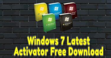 Windows 7 Latest Activator Free Download