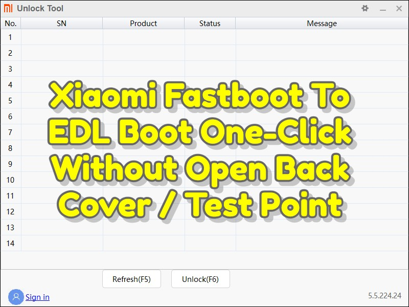 Xiaomi Fastboot To EDL Boot One-Click Without Open Back Cover _ Test Point