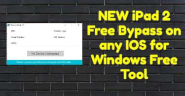 NEW iPad 2 Free Bypass on any IOS for Windows Free Tool