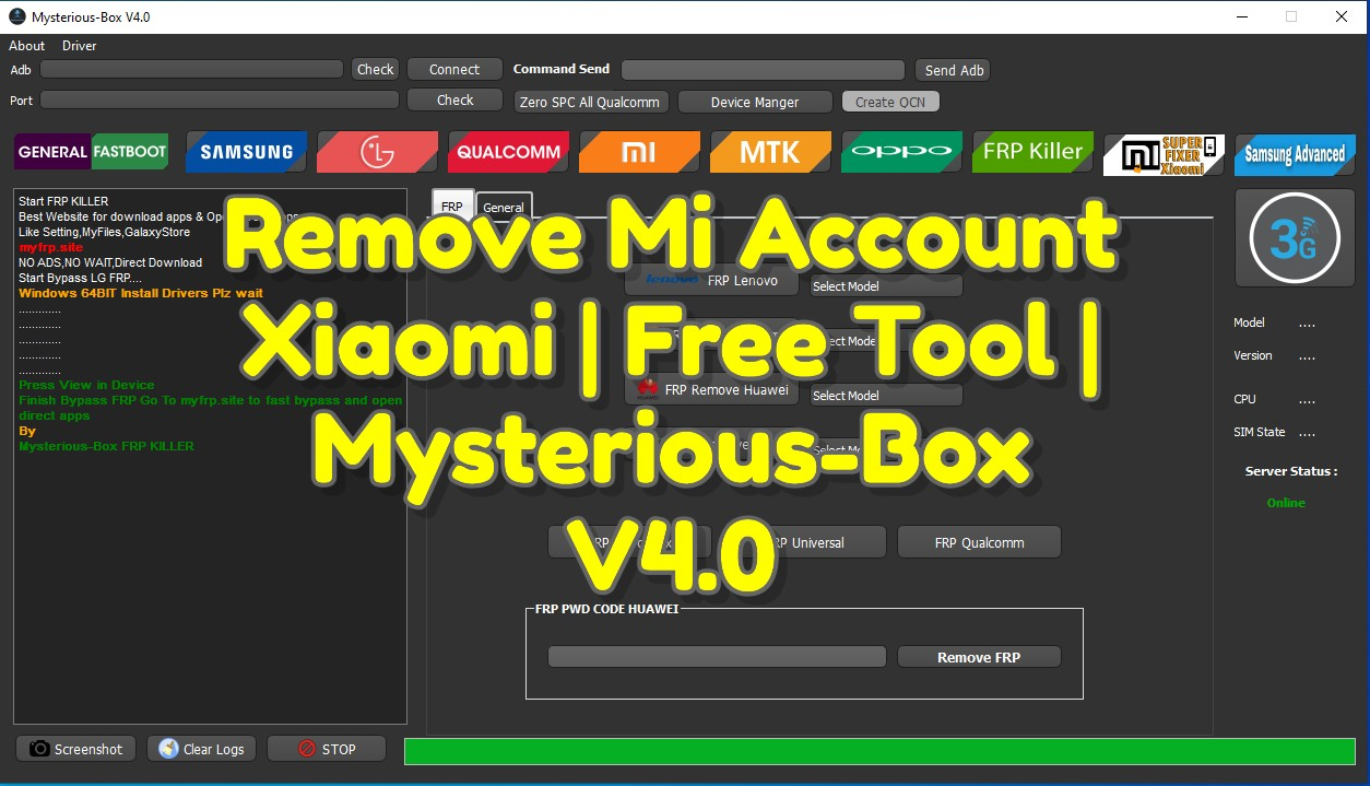 Remove Mi Account Xiaomi _ Free Tool _ Mysterious-Box V4.0