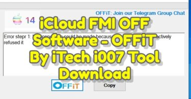 iCloud FMI OFF Software - OFFiT By iTech i007 Tool Download