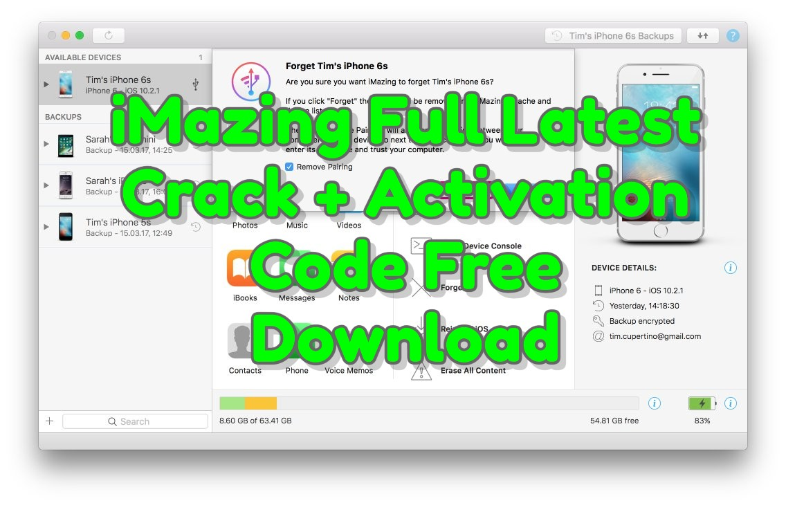 iMazing 2.13.10 Full Latest Crack + Activation Code Free Download