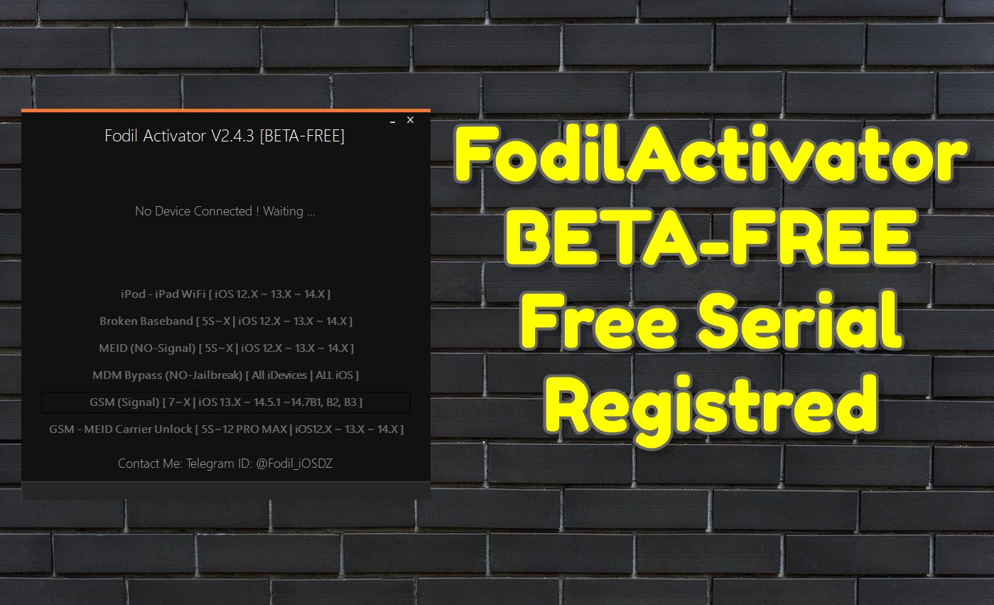 FodilActivator V2.4.3 [BETA-FREE] _ Free Serial Registred