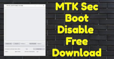 MTK Sec Boot Disable v4.0.R443 Free Download