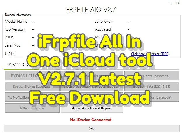 iFrpfile All In One iCloud tool V2.7.1 Latest Free DownloadiFrpfile All In One iCloud tool V2.7.1 Latest Free Download