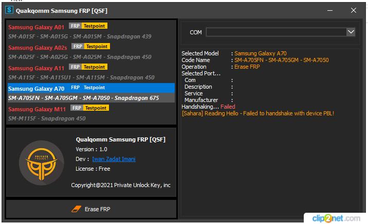 Qualcomm Samsung FRP Tool Free Download