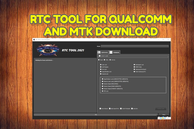 RTC TOOL FOR QUALCOMM AND MTK DOWNLOAD