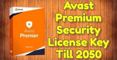 Avast Premium Security License Key Till 2050